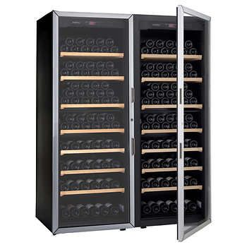 Artevino Double Unit by EuroCave 400-bottle Free-Standing Single-Zone Wine Cellar | Made in France