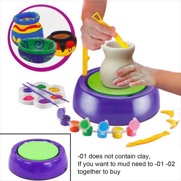 Kinder & # 39; Elektro-Handwerk Maschine Spielzeug Spielzeug Keramik Kits Werkstatt Puzz …