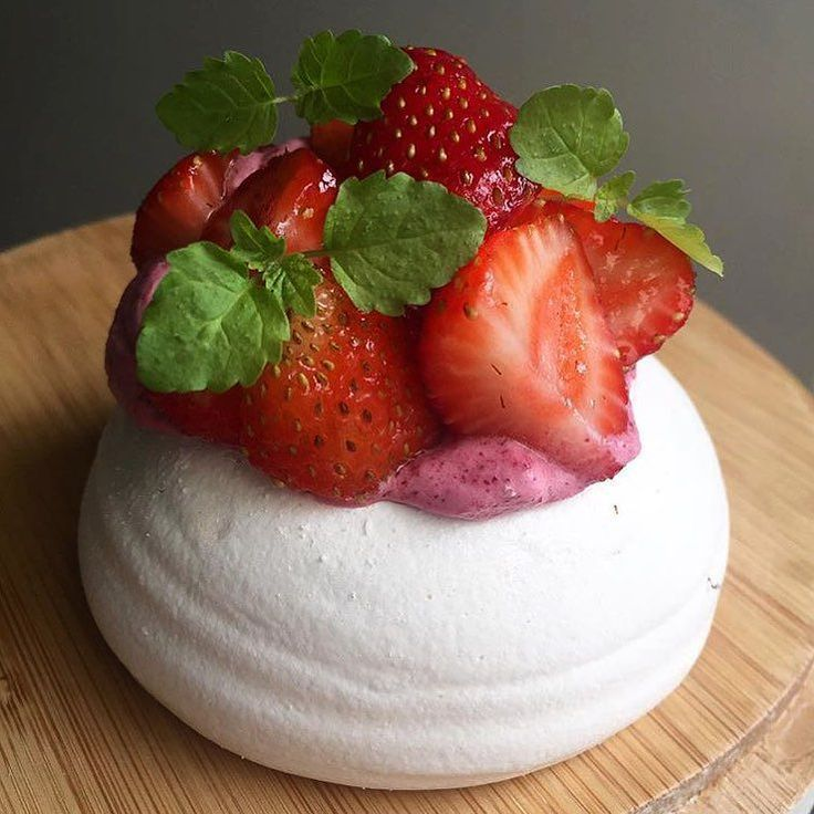 Yum!!  RG @s_yeo from @blackstarpastry These strawberry & plum cream pavlovas are available at their #Newtown store today. #sydneyeats #blackstarpastry #pavlova by eatdrinkplaysyd