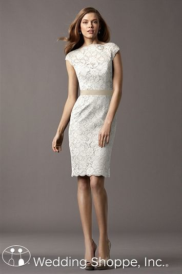 The perfect lace dress for an engagement party. Encore by Watters Hawthorn