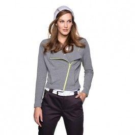 Kraagloze vestjasje, Casual en cool staat dit kraagloze vestjasje van joggingstof.