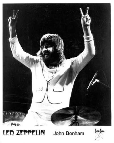 John Bonham drummer of Led Zeppelin.