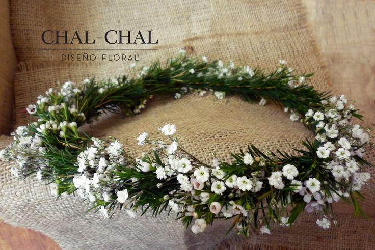 #Crona de novia   #CHAL-CHAL #chalchalflores