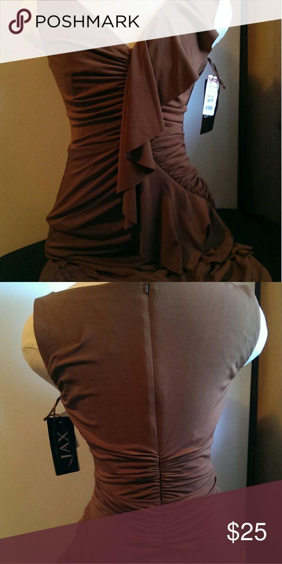 Dress Brown cocktail dress, mid length JAX Dresses Midi