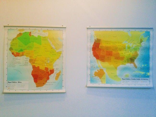 Juan José Martin Andrés, Mapa politico de Africa y EEUU, SUMMA contemporary art fair, Madrid
