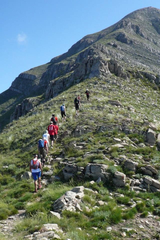 Hiking to the Taygetos peak!