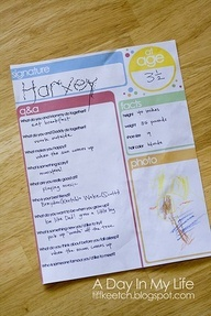 Birthday Interview - I like the 1 page format - easy to put into a scrapbook