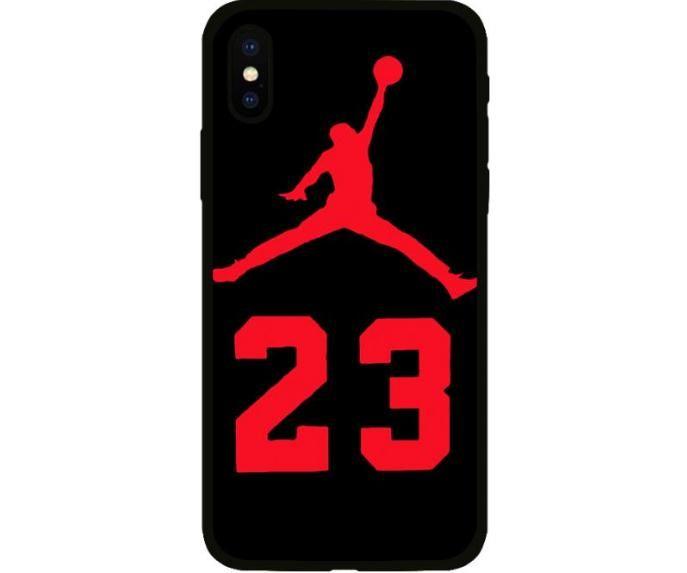 reputable site 3e7ef 4249d Jordan 23 Cover Case For Iphone X Xs Max Xr 10 8 7 6 6s Plus Black ...