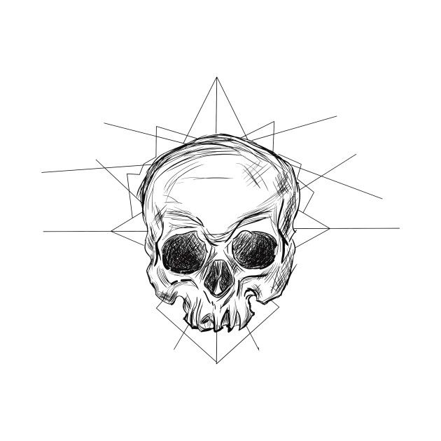 Check out this awesome 'skull-sketch' design on @TeePublic!