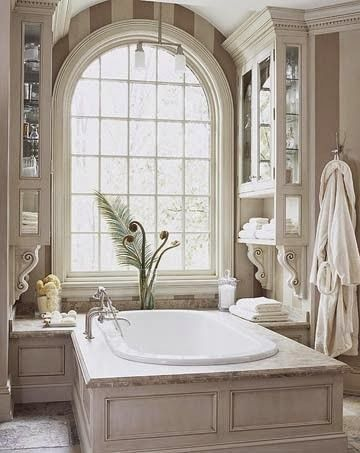 South Shore Decorating Blog: 50 Favorite for Friday #158. tub side cabinetry.