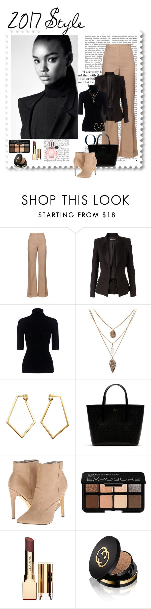 """2017 Style"" by ljano ❤ liked on Polyvore featuring Nina Ricci, Alexandre Vauthier, Marissa Webb, Dutch Basics, Lacoste, Michael Antonio, Smashbox, Clarins, Gucci and Viktor & Rolf"