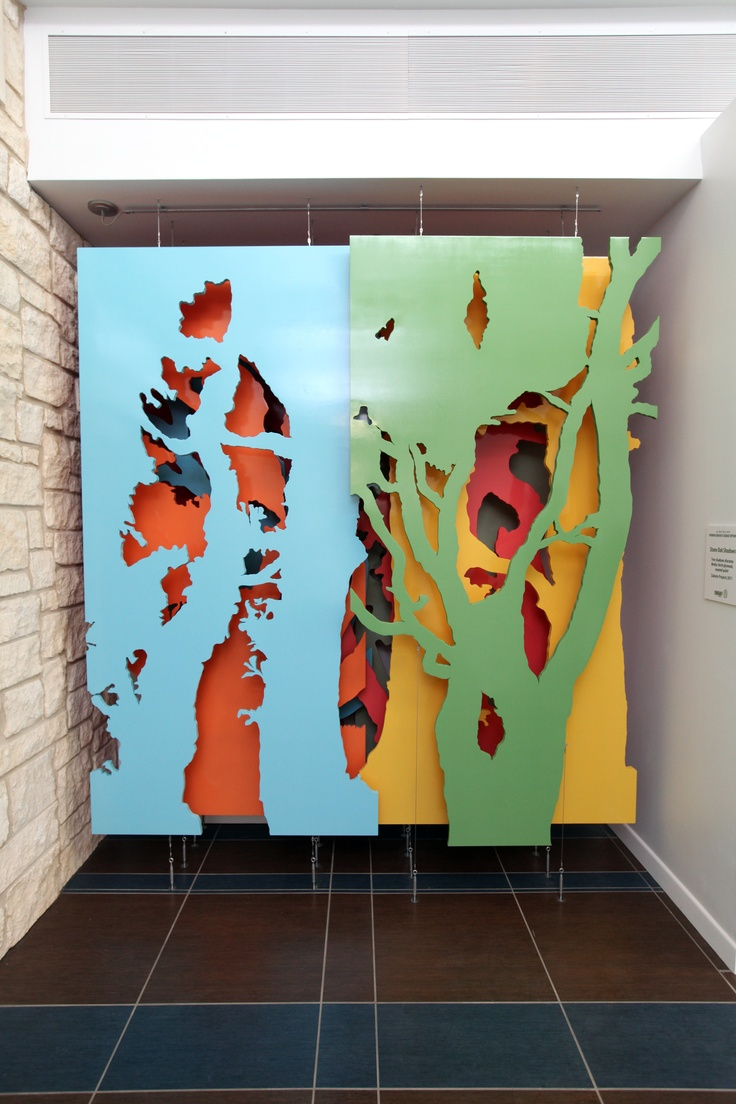 Yay! Peter Zubiate plywood cutouts, layered. So pretty.