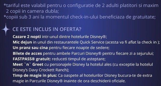 Disneyland Paris: Reducere 25% si demipensiune gratuita