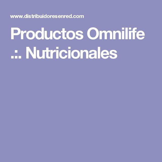 Productos Omnilife .:. Nutricionales