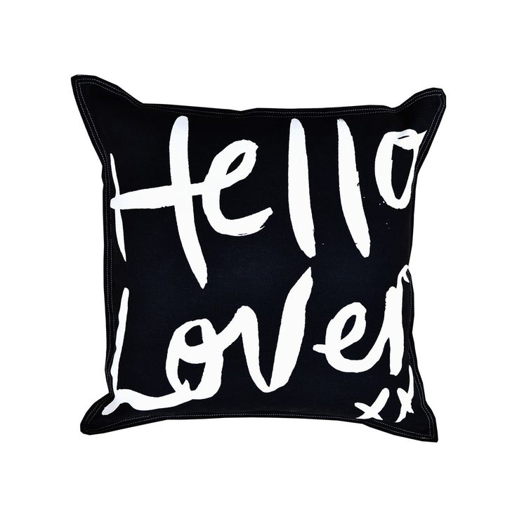 Hello Lover White on Black