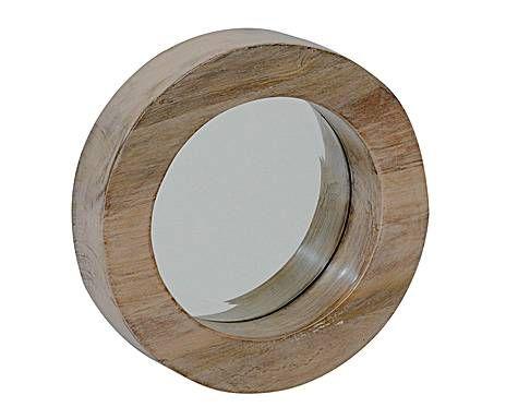 outlet accesorios de pared espejo redondo de madera u pequeo