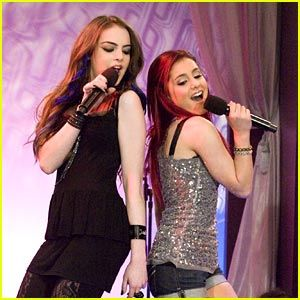 "Ariana Grande and Elizabeth Gillies       ""give it up"""