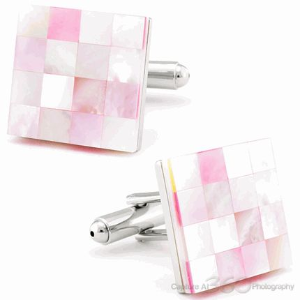 These Stylish Pink Eye Mother Of Pearl Cufflinks are made to the highest standard and presented in a beautiful gift box.
