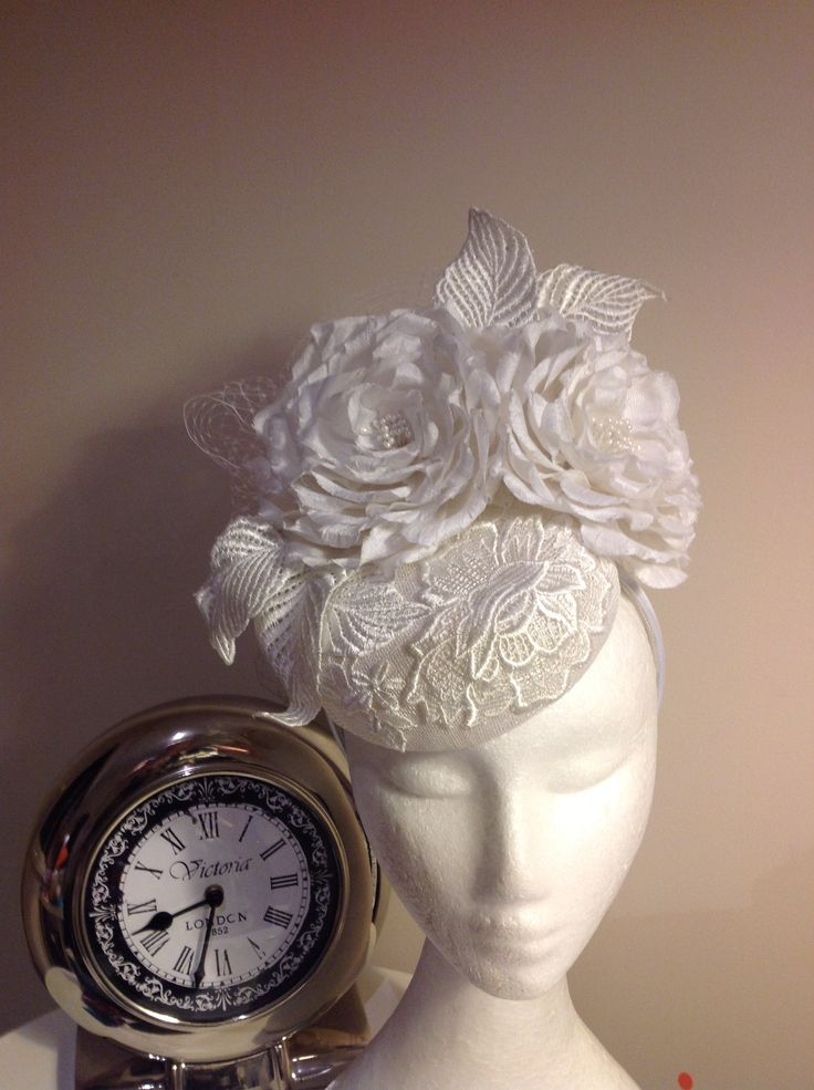 Elegant handmade silk roses and lace