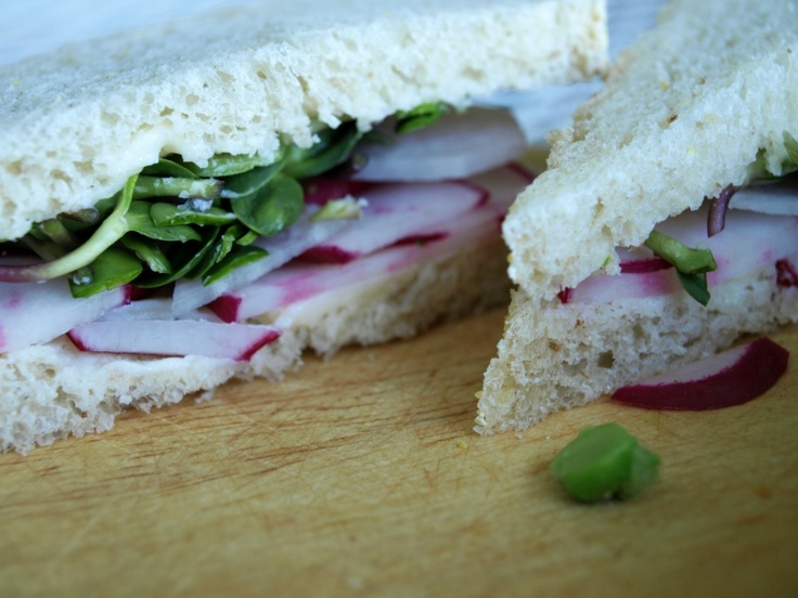 Radish and Sunflower Sprout Tea Sandwiches by Dinner With Aura | BEST ...