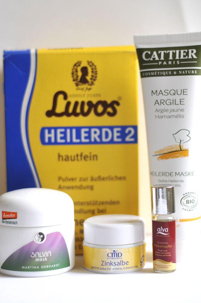"""Meine Naturkosmetik-""""Spezialmittel"""" bei unreiner Haut: Luvos, Alva, CMD, Martina Gebhardt & Cattier."""