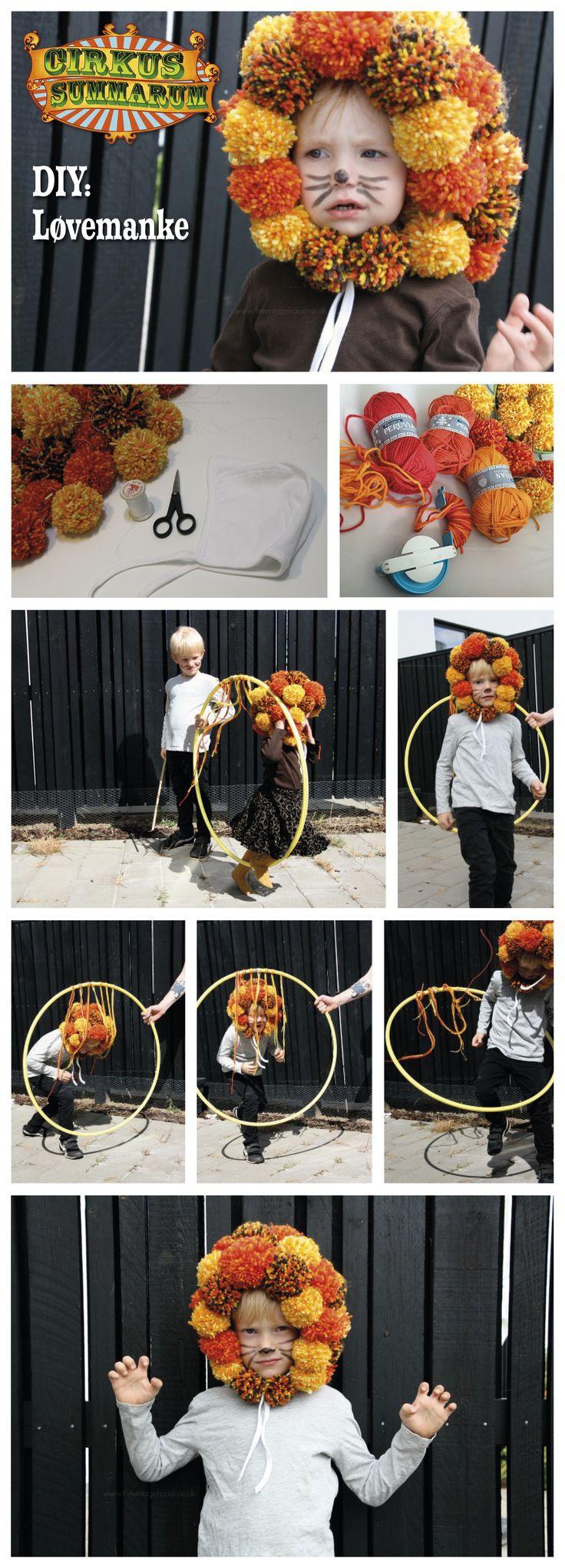 DIY din egen løvemanke. Læs mere på www.cirkussummarum.dk DIY'en er lavet af dygtige @vintagehausfrau