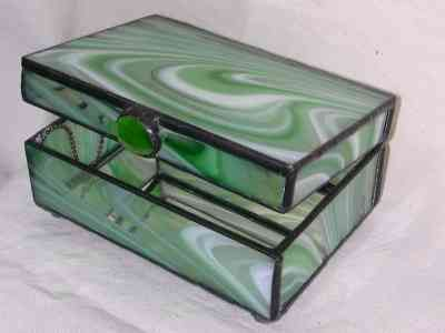 79 best Stained Glass Jewelry Boxes images on Pinterest Glass