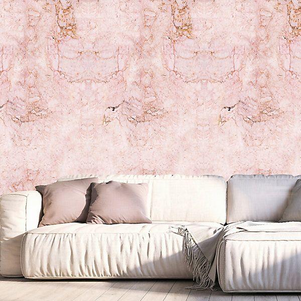 Queence Vinyltapete Marmor Rosa 90 X 250 Cm Selbstklebend Bestellen Vinyl Wallpaper Tapeten Rosa Tapete