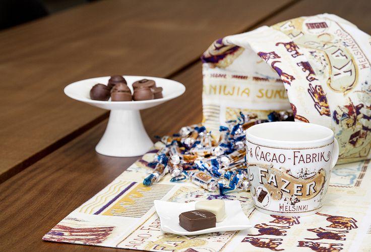 Vallila Interior SS15 collection  Vallila Cacao fabrik by Fazer & Vallila Design Studio