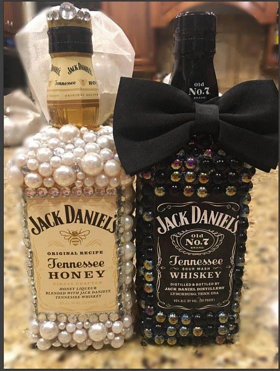 Braut und Bräutigam benutzerdefinierte Schnapsflaschen!