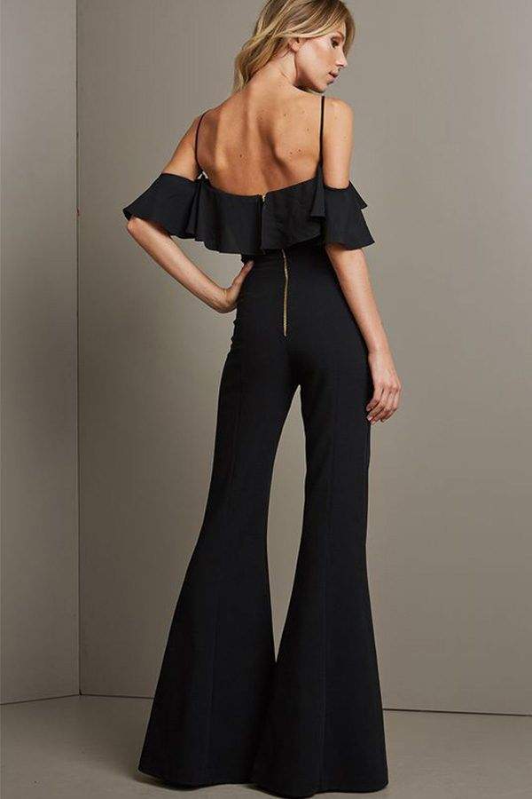 c2b1b1485ac Hualong Sexy Strap Deep V Black Wide Leg Jumpsuit  women  fashion  overalls   jumpsuit  outfits  bodysuit  fitness  club  partyideas  playsuit   widelegpants