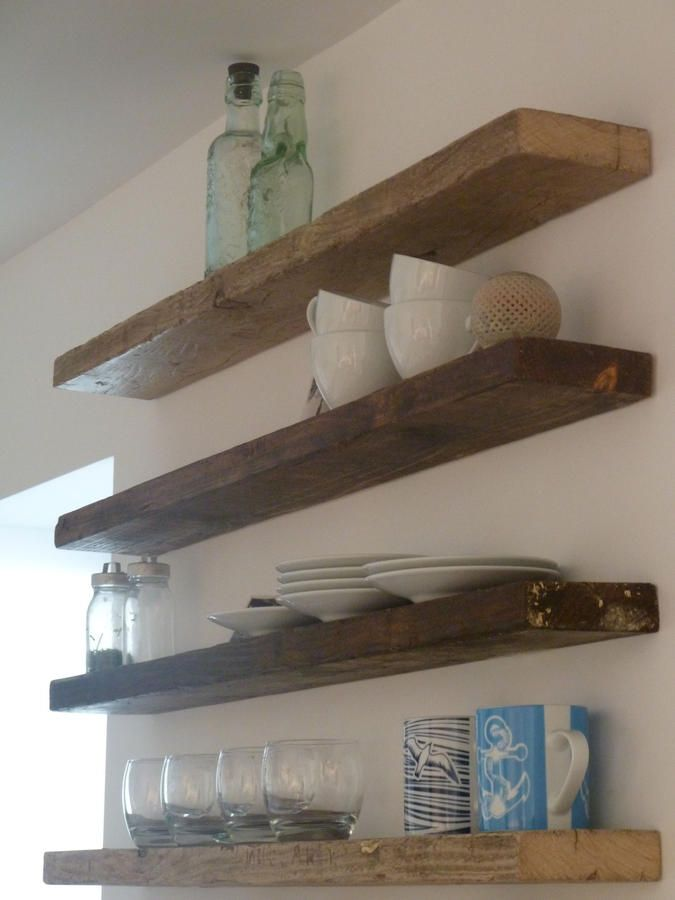 25 best ideas about reclaimed wood shelves on pinterest diy wood shelves the shanty and - Kitchen shelves ideas ...