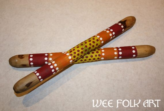 Learn how to make your own Aboriginal Clapping Sticks using dowel rods or sticks. Once you are done, you'll have a beautiful percussion instrument!