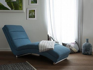 Chaise Longue   Daybed   Upholstered   Blue   LUNULA. Follow Beliani UK For  More