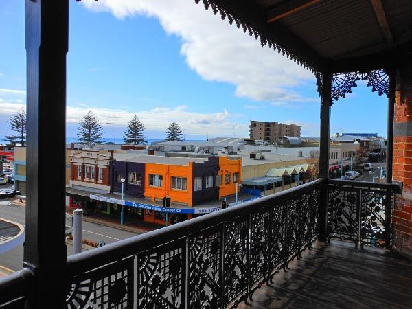 View from the Ikon Hotel over the CBD shopping district of Burnie in north west Tasmania. Article and photo by Michelle Kneipp Pegler for www.think-tasmania.com