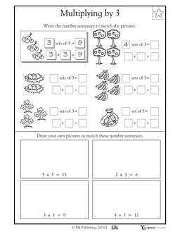 Worksheet Number Sentence Worksheets 2nd Grade activities worksheets and third grade on pinterest number sentences multiplying by 3 greatschools