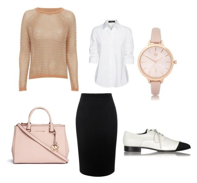 """На работу"" by olga-lukina on Polyvore featuring Alexander McQueen, Steffen Schraut, Mason by Michelle Mason, Miu Miu, Michael Kors and River Island"