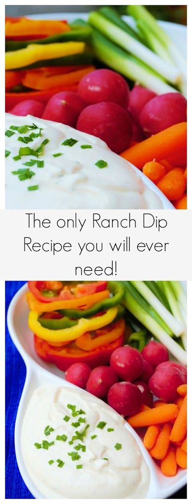 Homemade Ranch Dip Recipe on Yummly. @yummly #recipe