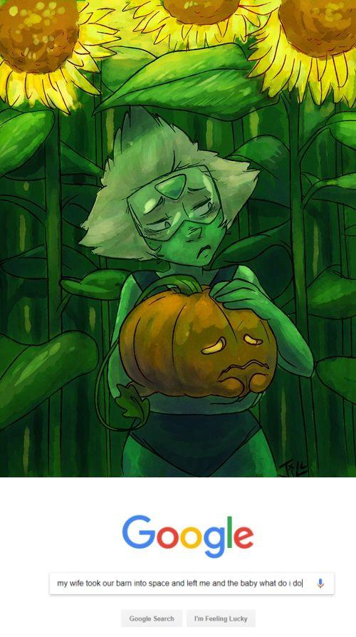 """Peridot and Pumpkin after """"Raising the Barn"""""""