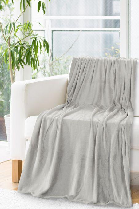 Svetlo sivá deka z polyesteru