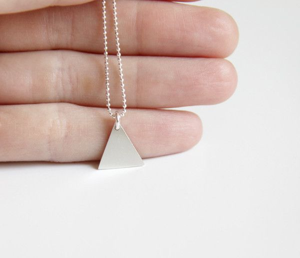 Sterling Silver Small Triangle Necklace