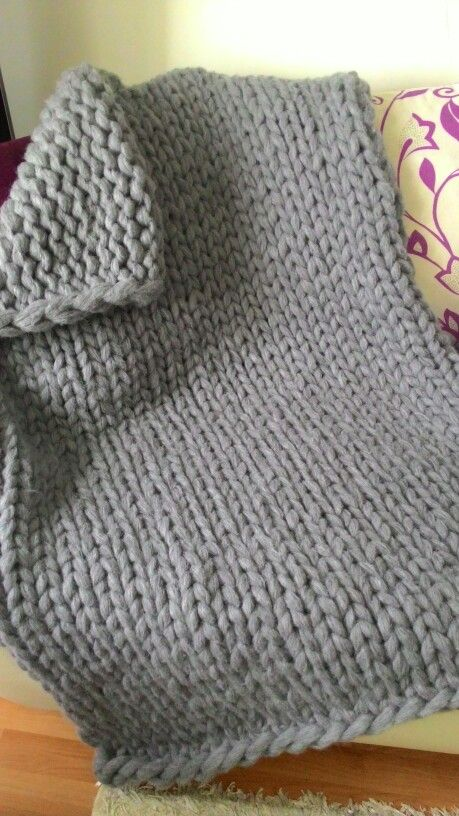 DIY Chunky knit blanket, mohair blanket, grey, handmade theknitbeyond Chunk...