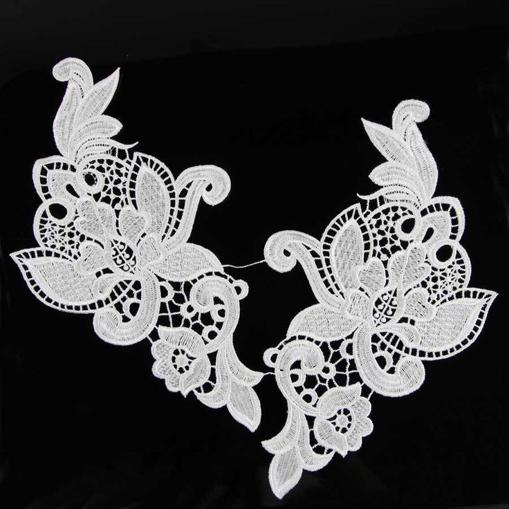 Hot 1 Pair Raw White Flower Lace Trim Wedding Fabric For Costume Dress Decor Sewing Applique Crafts Venise #>=#>=#>=#>=#> Click on the pin to check out discount price, color, size, shipping, etc. Save and like it!