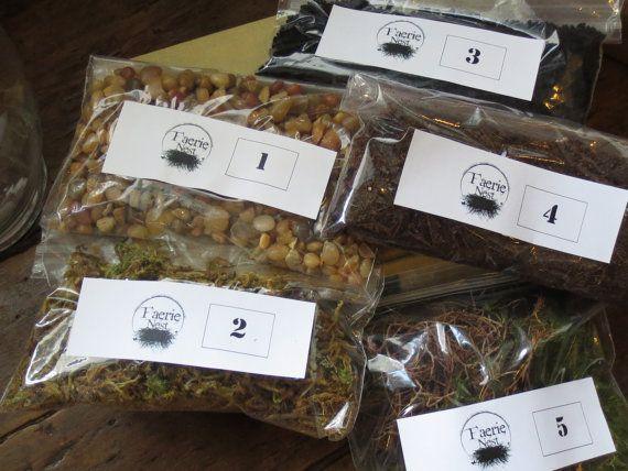 Terrarium Contents Kit, DIY Terrarium Supply Moss Terrarium Kit Layered Terrarium Supplies Live Moss Kit on Etsy, $23.00