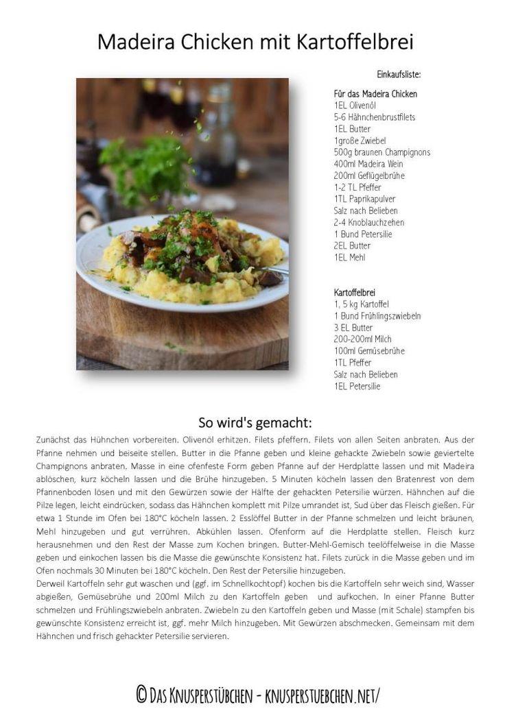 Madeira Chicken mit Kartoffelbrei Rezept-001