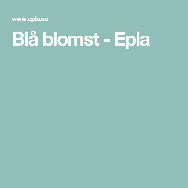 Blå blomst - Epla