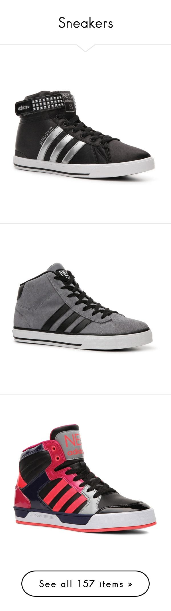 """""""Sneakers"""" by edymchale ❤ liked on Polyvore featuring shoes, sneakers, mid & high-top, adidas, twisted shoes, adidas high tops, adidas trainers, high top trainers, men and guys"""