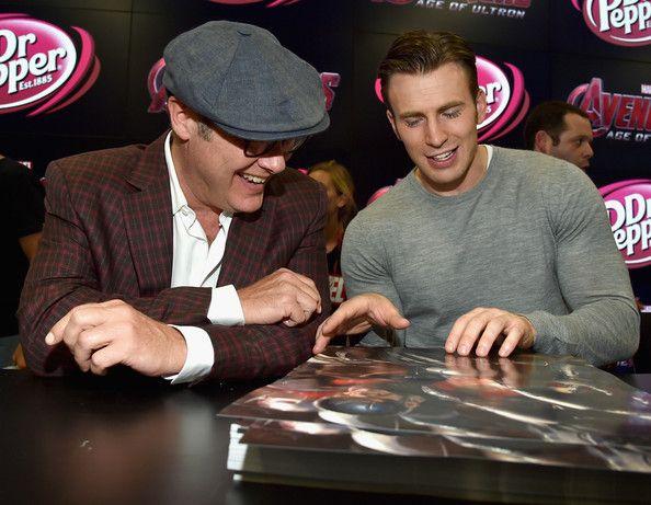 james spader age of ultron | James Spader Actors James Spader (L) and Chris Evans attend Marvel's ...