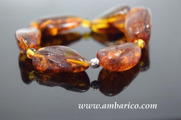 """Pulsera de autentico ambar baltico  """"Dátiles"""" de www.ambarico.com por DaWanda.com"""