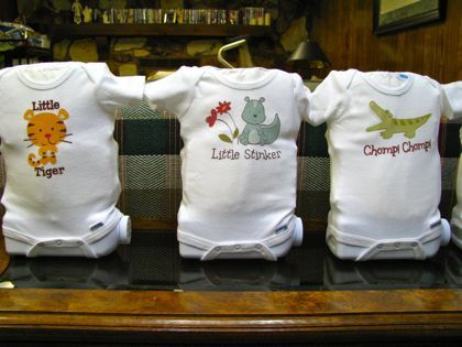 Baby Shower Idea with Onesies & Diapers